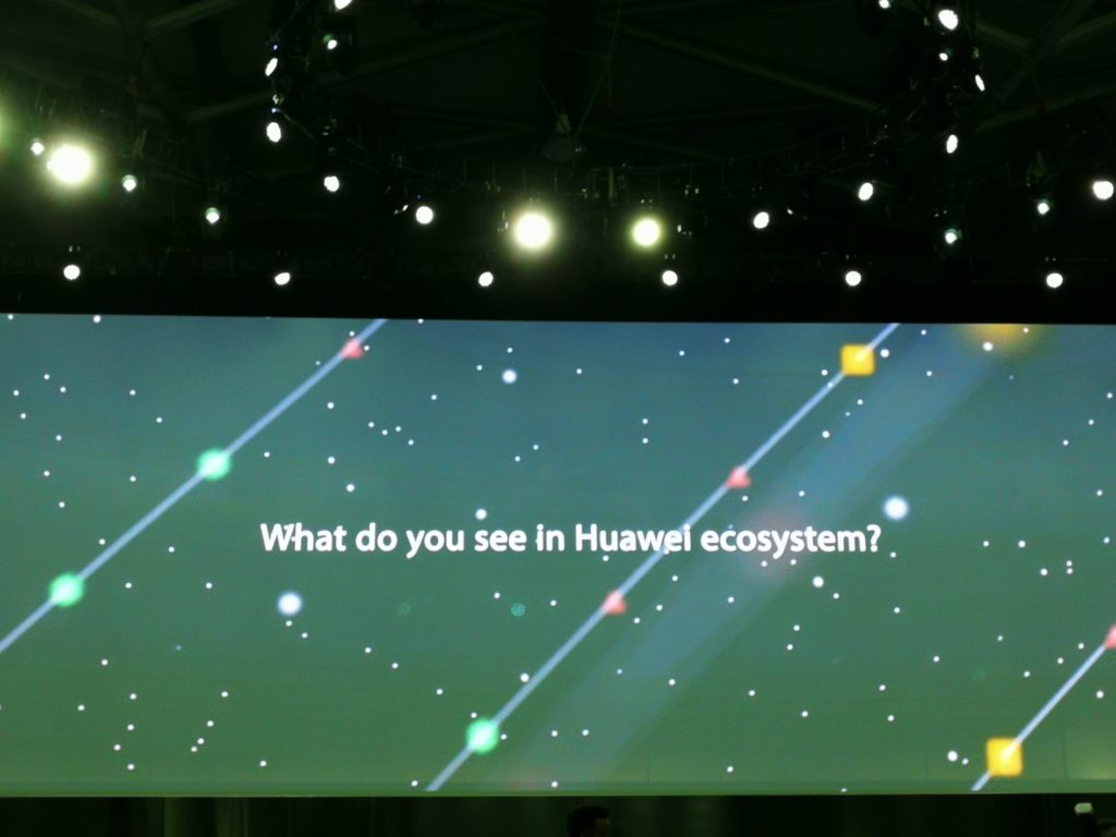 Slide from Huawei Connect - Huawei ecosystem
